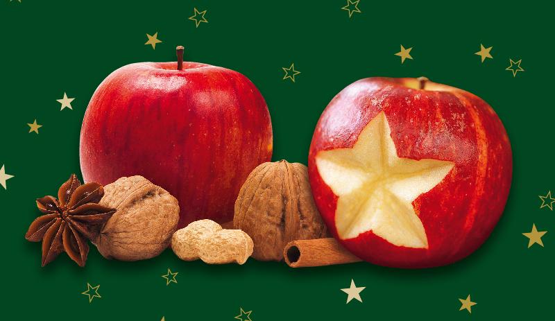 Äpfel und Nüsse